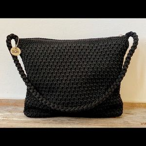 The Sak black crochet shoulder bag, The Sak Purse